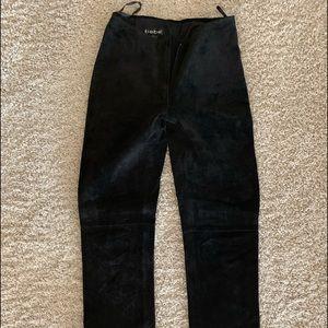 Bebe Black Suede Pants Size 2